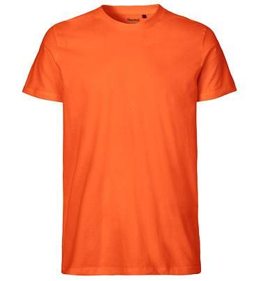Neutral Organic Fitted T-Shirt Fairtrade orange